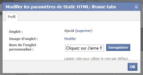 Modifier l'application static iframe
