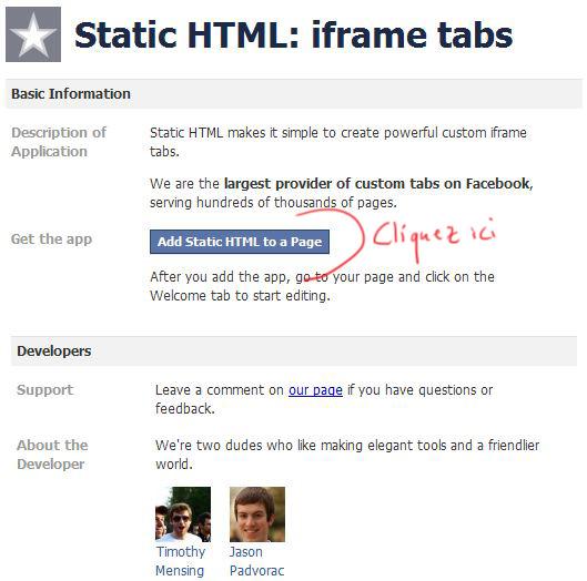 Static-Iframe Installation