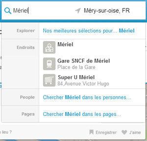 Résultat de recherche Foursquare