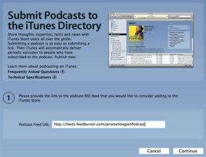 Soumettre un podcast iTunes