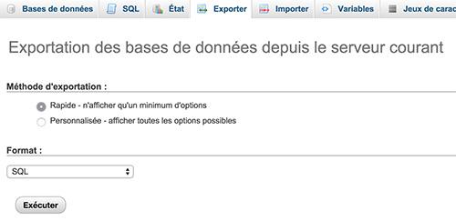 Sauvegarde SQL