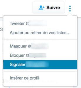 Signaler un faux compte Twitter