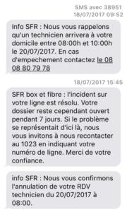 SFR Fibre RDV arbitraire