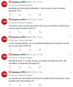 SFR Fibre SAV Twitter horrible