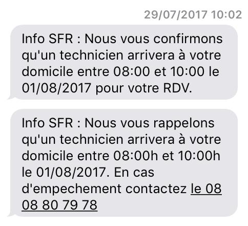 Fibre SFR marche pas
